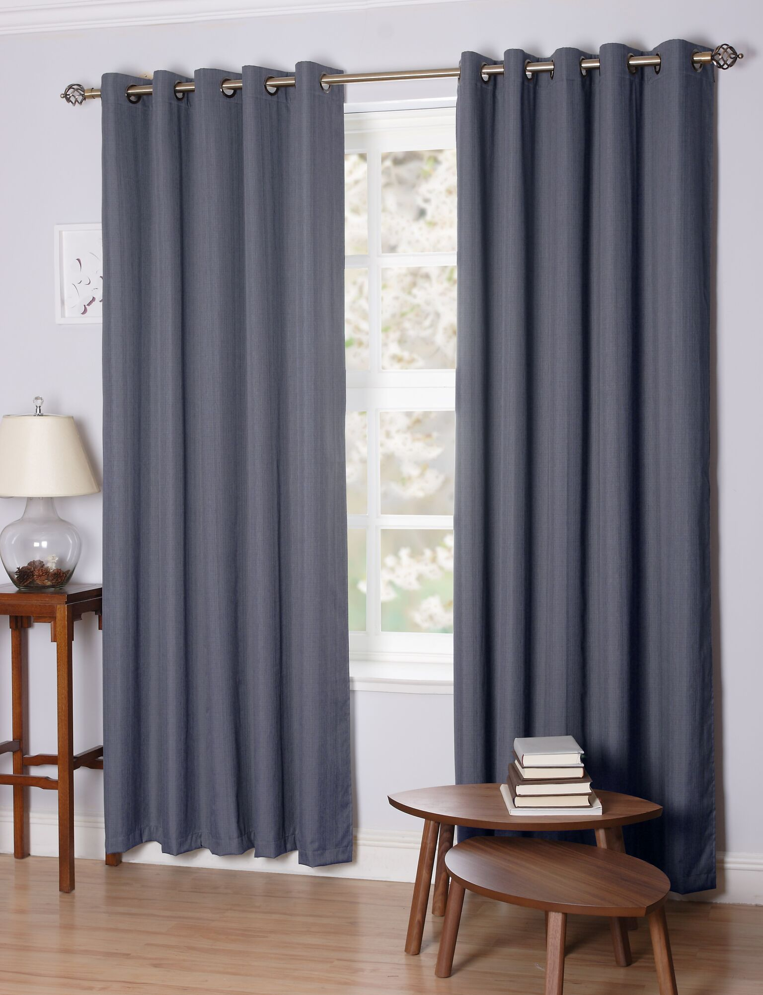 faux grey heavy panel linen curtain slate curtains buy fhlch