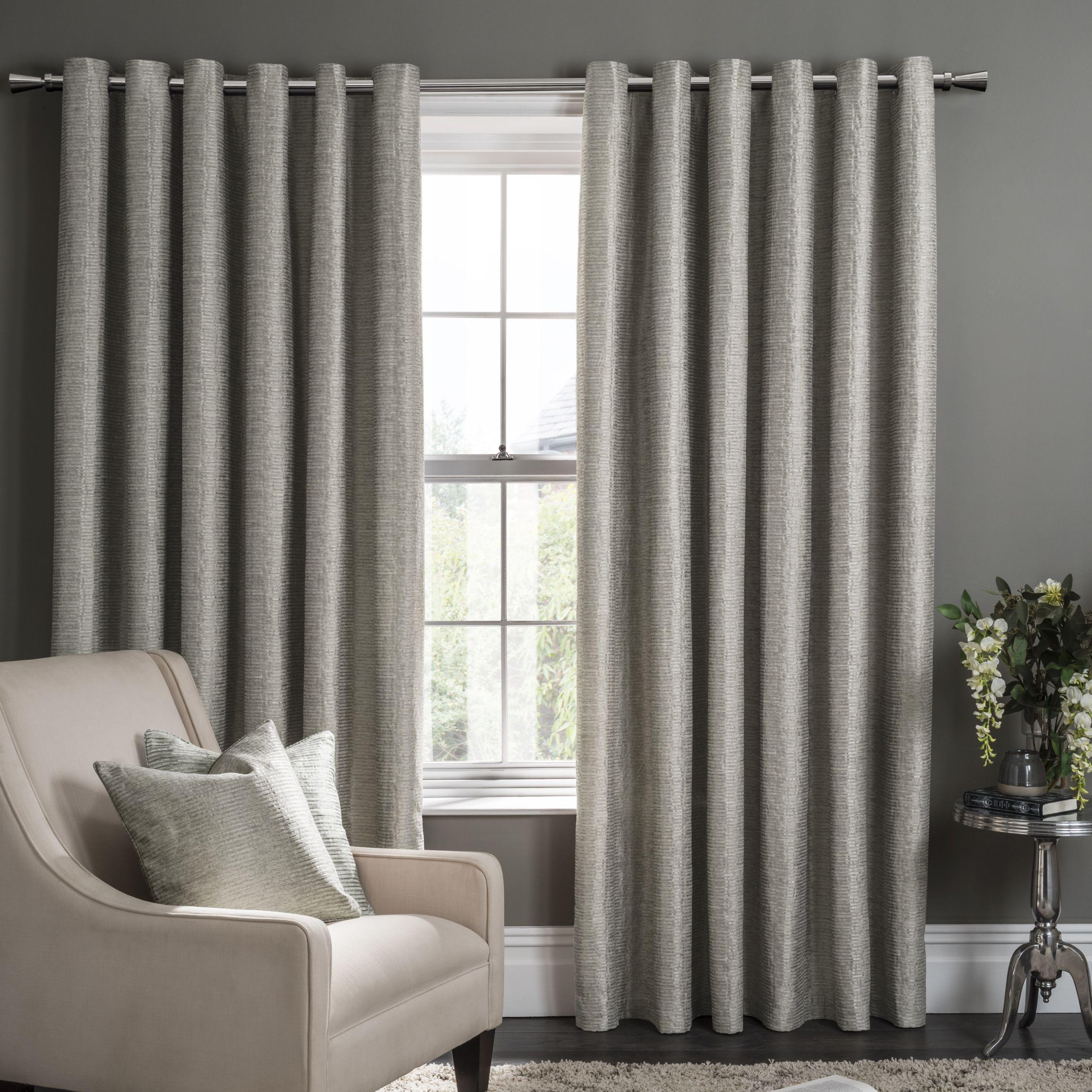 made mcbride ready suede readymade eyelet hamilton products curtains ring plain grey textiles faux group by curtain lined ringtop top