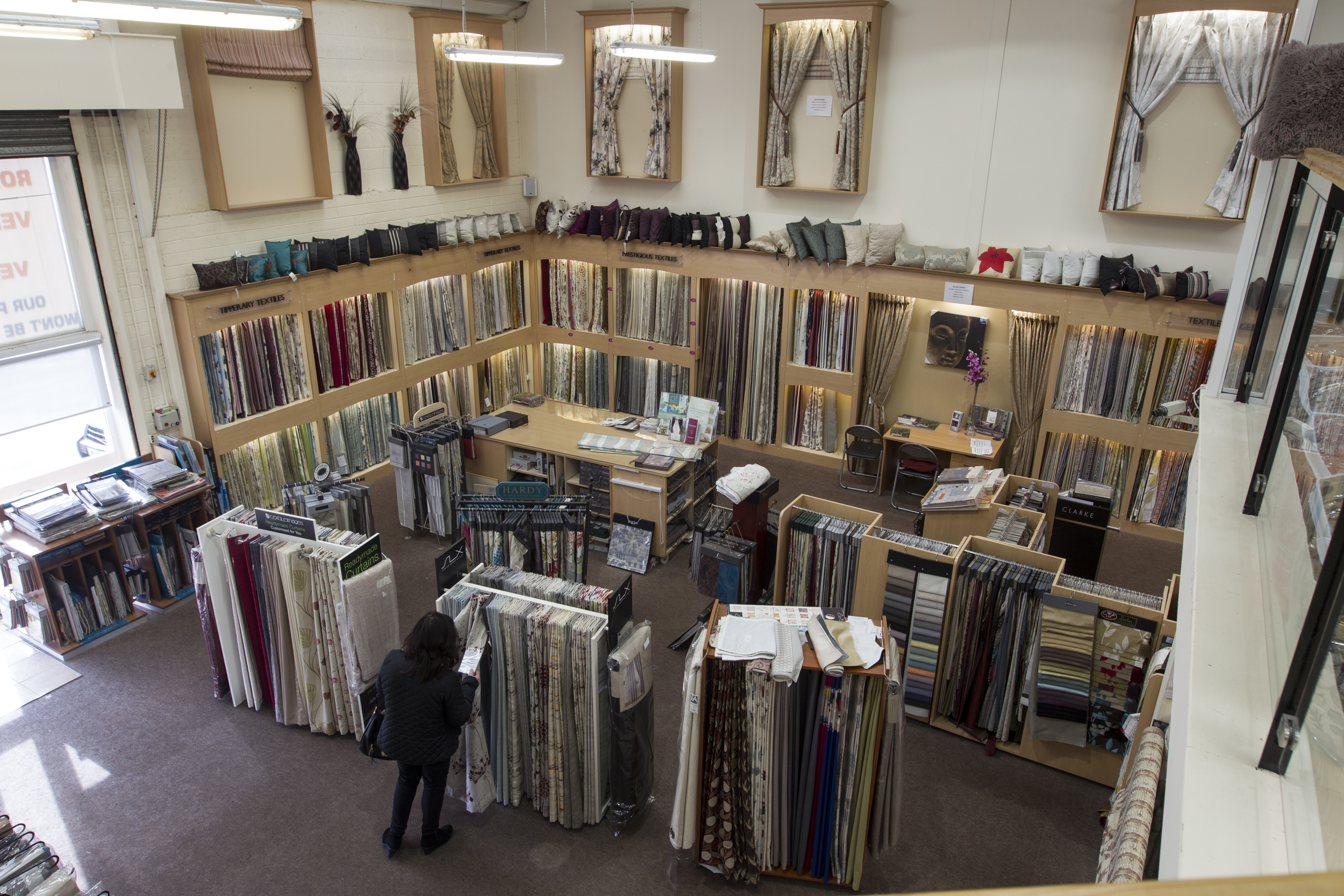 made to measure curtains show room 2